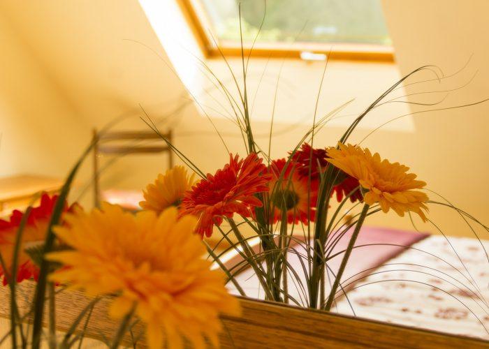 Bild des Schlafzimmers der Ferienwohnung 2 von Haus Wiesenttal