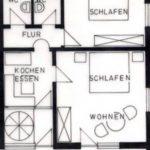 Grundriss der Ferienwohnung 1 von Haus-Wiesenttal