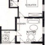 Grundriss der Ferienwohnung 2 von Haus-Wiesenttal