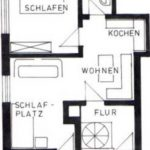 Grundriss der Ferienwohnung 3 von Haus-Wiesenttal